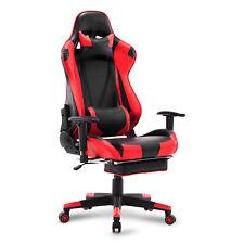 Fauteuil Chaise de Bureau réglable Racing chaise pour Gaming Rouge BS14rt