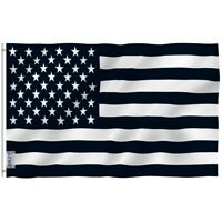 ANLEY Black And White American Flag Recession Banner Polyester 3x5 Foot Flags
