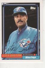 CITO GASTON SIGNED 1992 TOOPS #699 - TORONTO BLUE JAYS