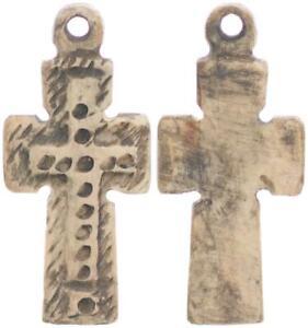 Kreuz Byzanz / Mittelalter kreuz aus Bein (44420)