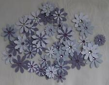 Card Flower Embellishments Purple, approx 40 pieces,with  Rhinestones
