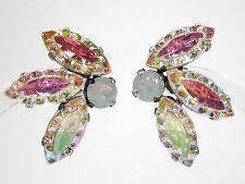 SoHo® Ohrstecker vintage handgemachtes Glas 1960s navette crystal aurore boreale