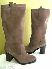 NEW! Ralph Lauren Brown Sable Sport Suede Leather Devona Tall Boots 8 M $249