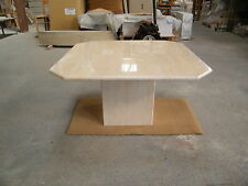 marble coffee tables in solid filled and polished Travertine marble  80x80cm