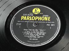 "The Beatles ""HELP"" 1965 UK  1st Press STEREO PCS 3071 British Invasion LP."