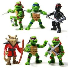 6 Pcs Mutant Ninja Turtle Figurines Sets for Cake Topper Decor Action Figure Toy