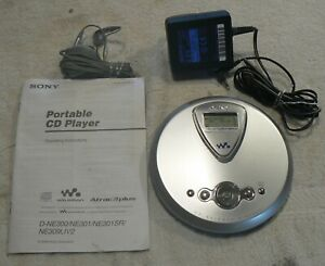 Sony D- E300 Portable CD Player and Accessories ,Working ,Ex. Cond.,Used.