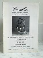 Catalogue de vente Versailles Argenterie Bijoux Objets d'art 13 mars 1977