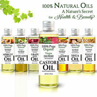100% PURE CASTOR OIL ORGANIC VIRGIN COLD PRESS UNREFINED & OTHER CARRIER OILS