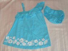 TODDLER GIRLS GYMBOREE DRESS SPRING SUMMER SLEEVELESS BLUE WITH FLOWERS 12-18M