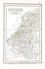 OLD ANTIQUE MAP HOLLAND BELGIUM c1842 by ARROWSMITH NETHERLAND HAND COLOUR