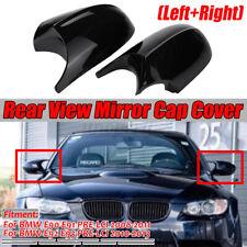 2PCs M3 Style Side Mirror Cap Covers For BMW E90 E91 E92 E93 Facelifted 08-11