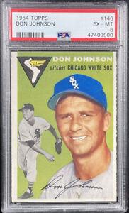 1954 TOPPS DON JOHNSON Chicago White Sox Baseball Card #146 Graded PSA 6!!!!!