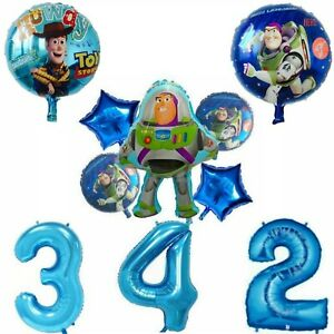 Toy Story Buzz Lightyear Woody Large Number Age Helium Birthday Balloons