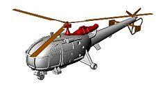 Hélicoptère Alouette III 1/400 x4