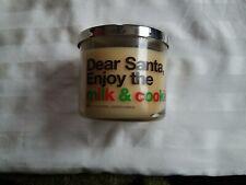 Bath & Body Works Dear Santa Enjoy the milk & cookies 3 Wick Candle 14.5 oz.