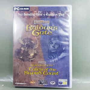 Baldur's Gate IBM PC role playing video game.4 x cds released by BioWare 1999
