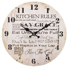 Vintage Shabby Chic Wall Clock Kitchen, Roses, Live, London,