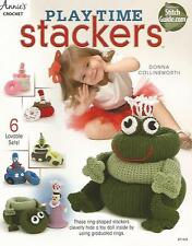 Playtime Stackers Crochet Pattern Ring Shaped Kids Toy Annie's Frog Princess NEW
