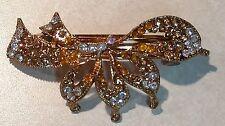 Gold Silver Crystal Rhinestone Flower Hair Barrette Clip Women Jewelry Rodeo WOW