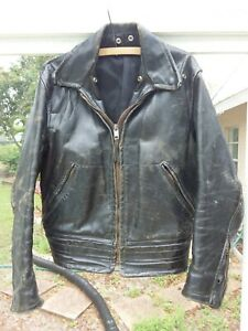 tan leather Grunge Norwest made in Canada Vintage Brown Leather jacket punk rock rocker 60 s leather 70 s leather