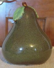 "Fall Home Decor Beautiful Speckled Ceramic Pear 6.5"" Tall"