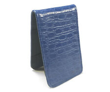Sunfish Leather Golf Scorecard & Yardage Book Holder / Cover - Blue Croc