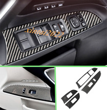 Real Carbon Fiber Inner Window Switch Cover Trim For LEXUS IS250 300 350 2006-12