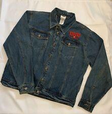 Authentic M&M's World s Blue Denim - Red Peanut Jacket - Size Large