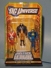 JUSTICE LEAGUE UNLIMITED THREE PACK ADAM STRANGE ANIMAL MAN SATRMAN! NM!