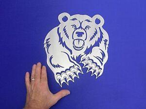 """Mad Bear Hunting Man Cave Sign Wall Art Plasma Cut Cutter Made 14Ga Steel 12x15"""""""