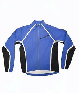 Cannondale Women's Cycling Softshell Jacket Blue & White Sz M  CA28059