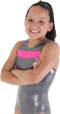 """New Gymnastic Snowflake Allure Blue Twilight Leotard Age 11-13 (32"""")"""