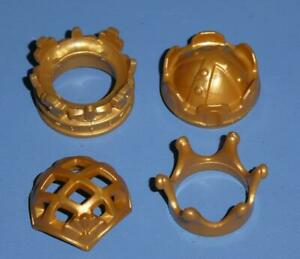 Playmobil Crowns x 4 Gold King Queen Prince Princess Castle Palace - NEW (B)