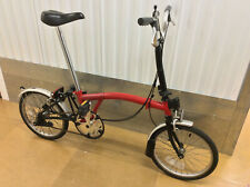 Brompton M3L Red Black 3 Speed Folding Bike Cycle Worldwide Shipping
