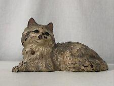 Authentic Antique Original Paint Hubley Persian Cat #335 Cast Iron Door Stop
