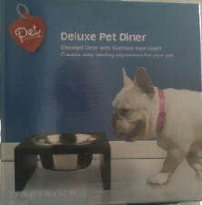 Pet Central Deluxe Elevated Pet Diner Stainless Steel Bowl 800ml - Free Ship