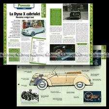 #hvf.71.09 PANHARD DYNA X CABRIOLET 1950 Classic Car Fiche Auto