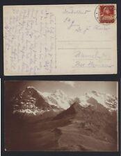 AK Schweiz 1919 Bahnpoststempel Rhätische Bahn RhB - Ferrovia retica - Foto