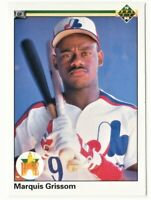 1990 Upper Deck Baseball Marquis Grissom Cubs Rookie Card #9