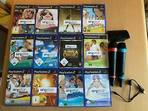 PlayStation 2/ PS2/ singstar Auswahl ABBA, Disney, Schlager, Mikrofone ...