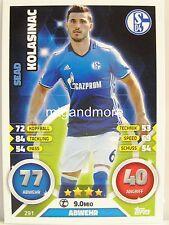 Match Attax 2016/17 Bundesliga - #291 Sead Kolasinac - FC Schalke 04