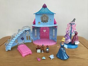 * DISNEY PRINCESS MAGICLIP CINDERELLA Castle Playset Doll & Accessories Mattel *