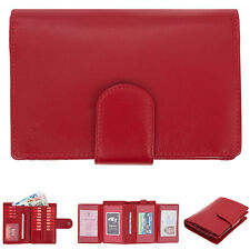 Geldbörse Damen Colori XL Leder Geldbeutel Börse Lederbörse Damengeldbörse Rot