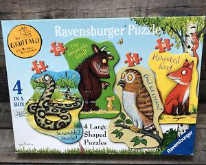 THE GRUFFALO 4 LARGE SHAPED JIGSAW PUZZLES BY RAVENSBURGER