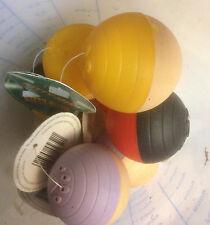lot x2  Balle  plastique desaxée Boule chien chat animal jouet jeu mordre mâcher