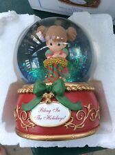 Precious Moments Bling In The Holidays Christmas Water Globe Musical New 113103
