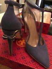 Women's Tory Burch Belleville Lancaster Suede/Metallic Shoes-Size 7.5 Brand New!