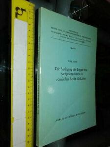 LIBRO:Die Auslegung Des Legats Von Sachgesamtheiten Im Römischen Recht Bis Labeo