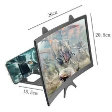 3D HD Fold Tabletop Magnifier Stand Curved Mobile Phone Video Screen Amplifier